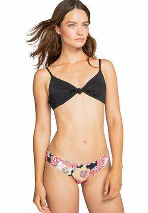 KNOTTED TRILET - Bikini top - black pebble