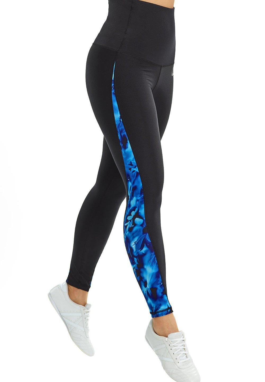 Femme HWL109-BLUE RAINFLOWERS HIGH WAIST - Collants