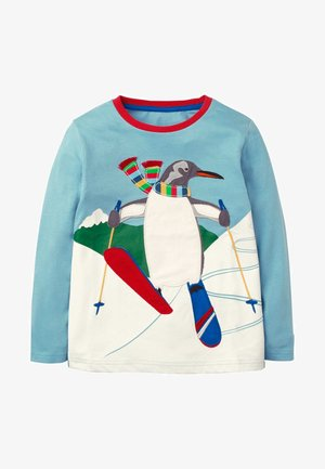 MIT POLARTIERAPPLIKATION - Long sleeved top - eisblau, pinguin