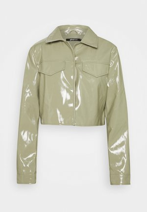 CASSIDY JACKET - Faux leather jacket - ice green