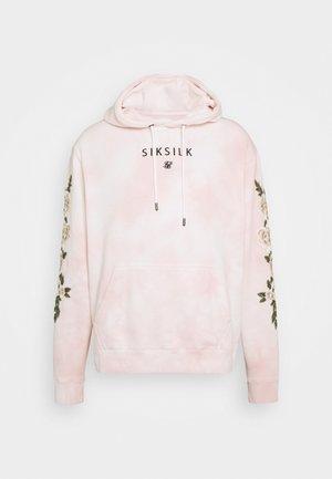 TIE DYE OVERHEAD HOODIE - Jersey con capucha - dusky pink
