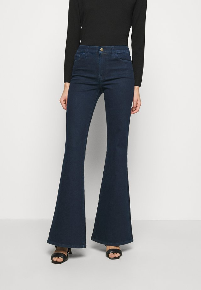 VALENTINA HIGH RISE - Jean bootcut - dark blue