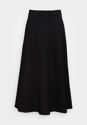SELINA - A-line skirt - black