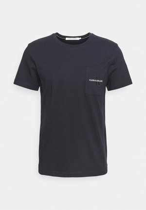 MONOGRAM EMBROIDERY POCKET TEE - T-shirt con stampa - blue
