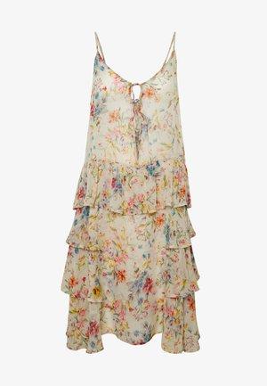 DRESS - Kjole - beige/multi-coloured