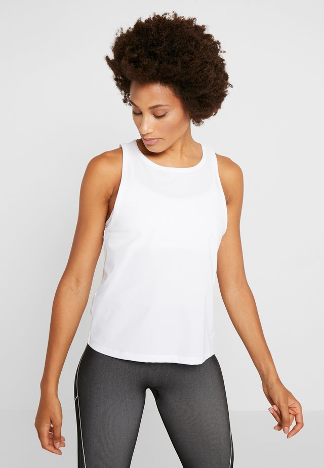 VISION SILKY MUSCLE TANK - Toppi - white