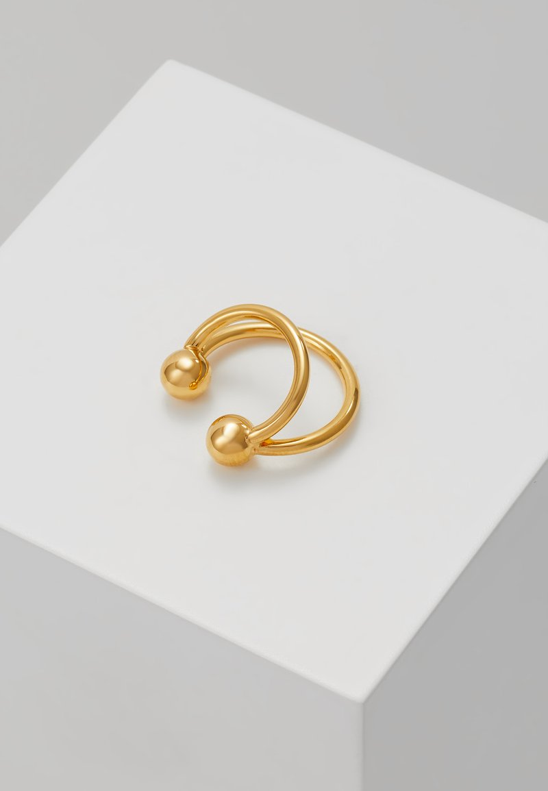 Vibe Harsløf - ANNA EARCLIP DOUBLE RINGS - Örhänge - gold-coloured