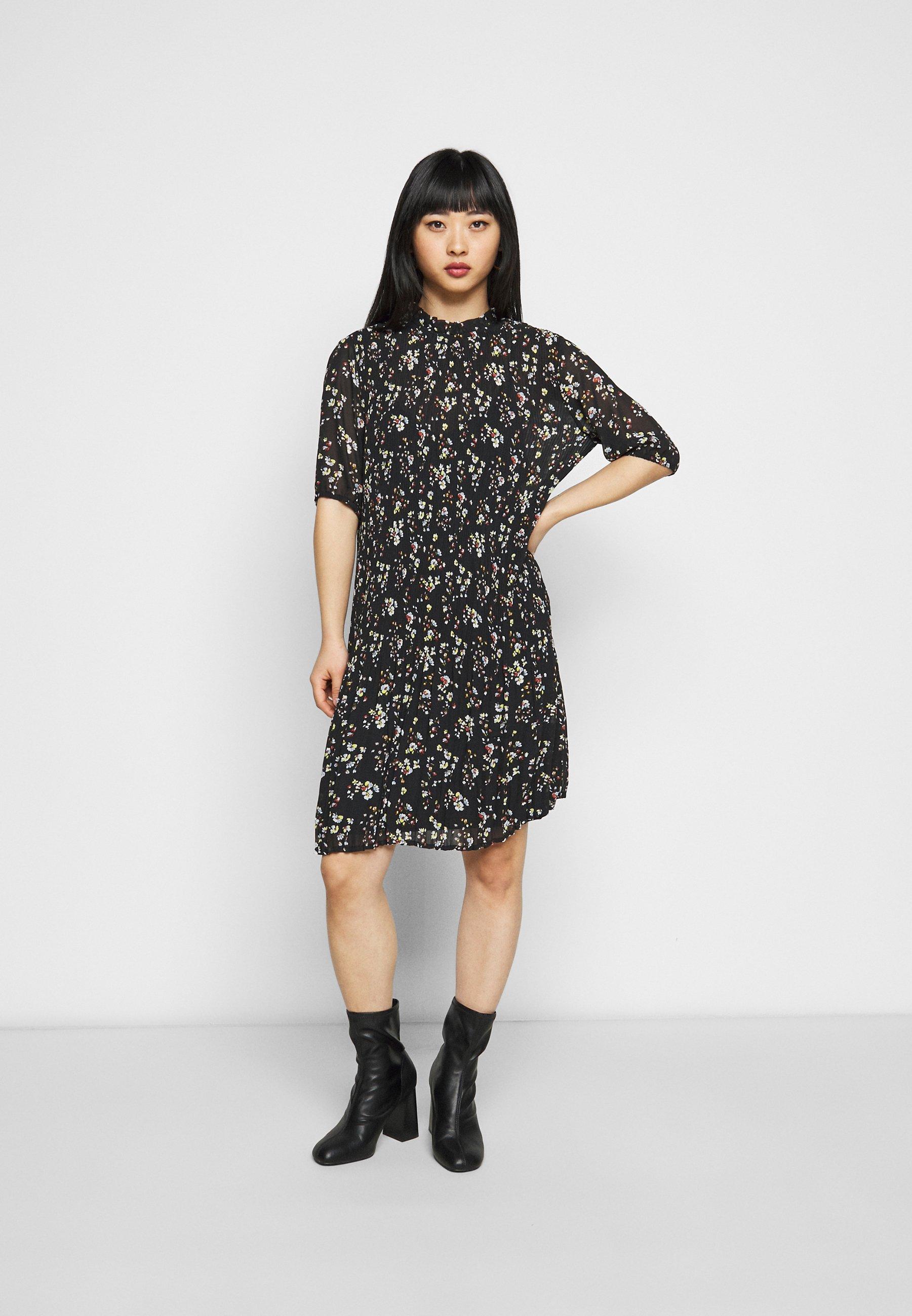 Damen VIBLOSSOMS DRESS - Freizeitkleid - black/aspen