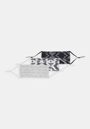 3 PACK UNISEX - Tygmasker - black/white/grey