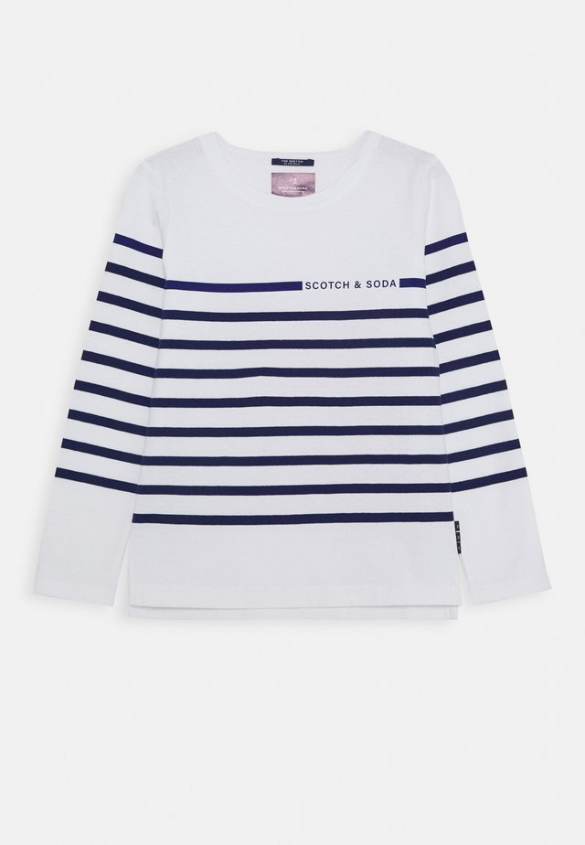 ENGINEERED STRIPE BRETON LONGSLEEVE - Langærmede T-shirts - white/blue