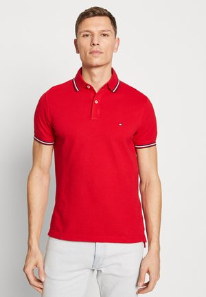 TIPPED SLIM FIT - Polo - red