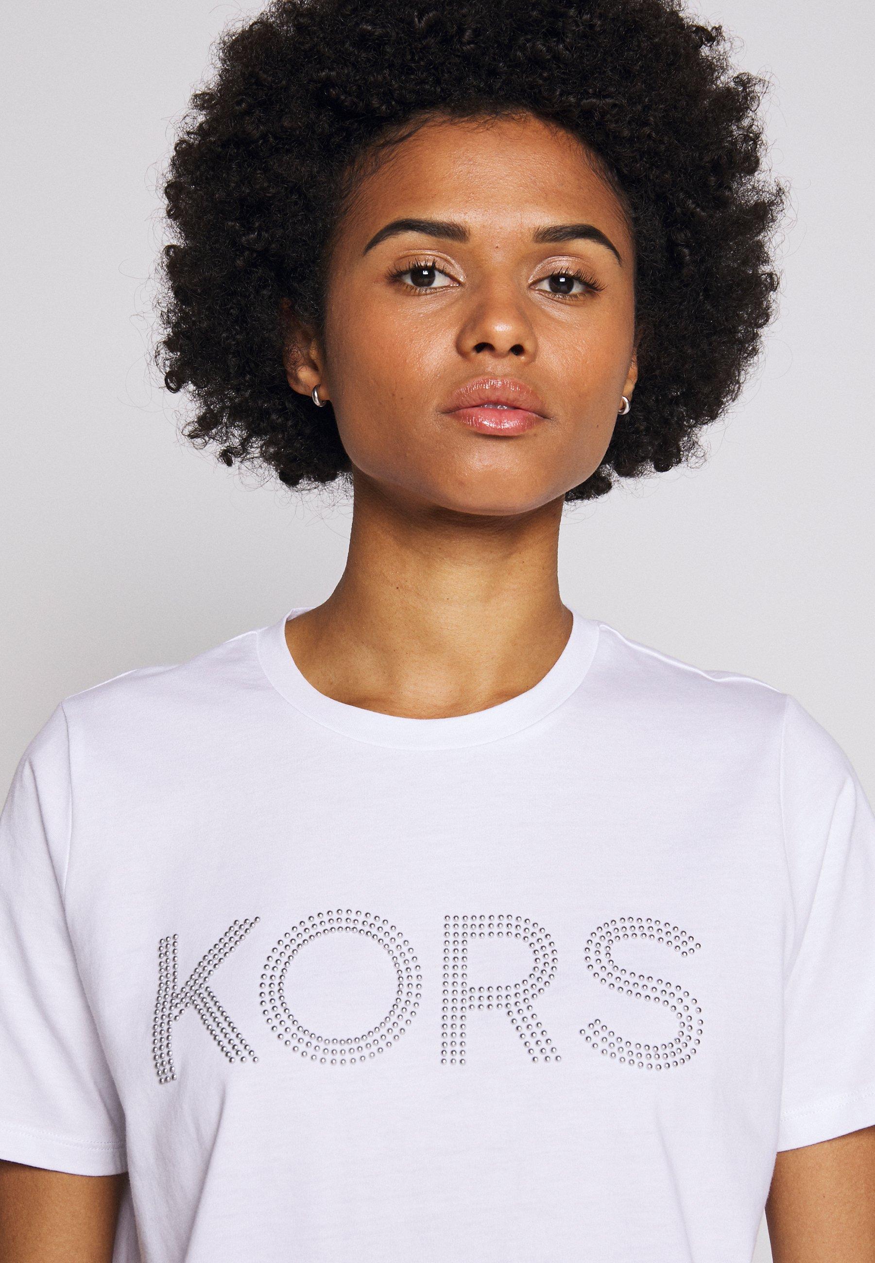Michael Kors T-shirts Med Print - White/hvit