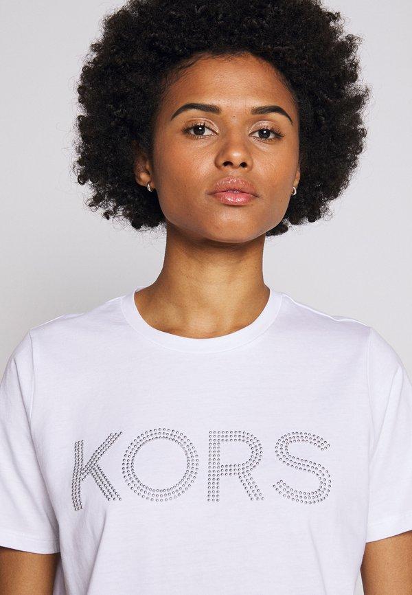 MICHAEL Michael Kors T-shirt z nadrukiem - white Odzież Damska XOLT ZN 4