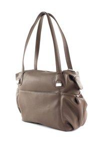 JETTE - Handbag - truffle / shiny silver - 5