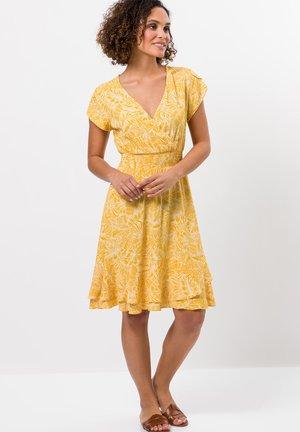 Korte jurk - yellow curry