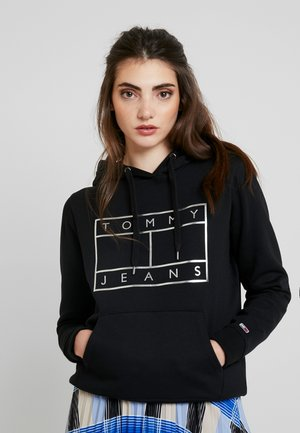ESSENTIAL LOGO HOODIE - Jersey con capucha - black