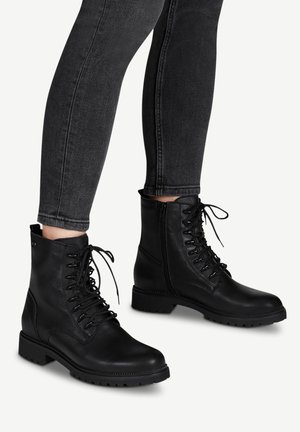 Bottines à lacets - black uni