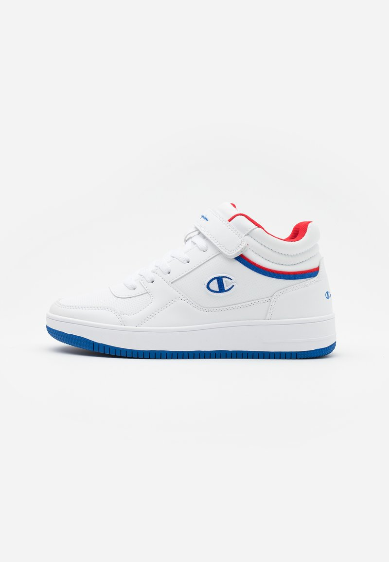 Champion - MID CUT SHOE REBOUND VINTAGE - Obuwie do koszykówki - white/royal blue/red