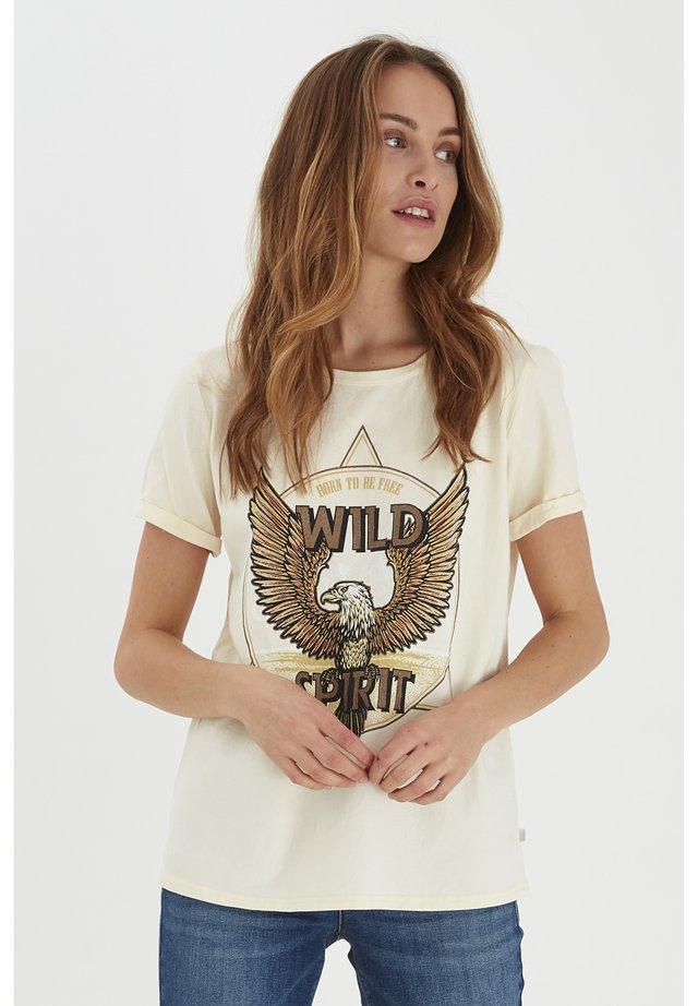 PZGUDRUN  - T-shirt con stampa - buttercream