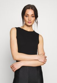 Missguided - SLEEVELESS BODYSUIT 2 PACK - Top - black/khaki - 5