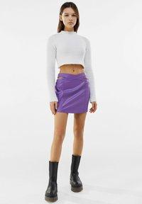 Bershka - Mini skirt - mauve - 1