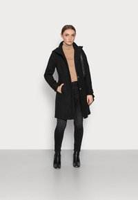 Wallis Petite - FUNNEL - Classic coat - black - 1