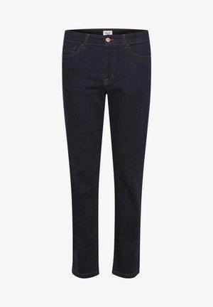 MOLLYSZ  - Flared Jeans - dark blue denim