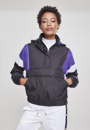 Veste mi-saison - black/ultraviolet/white