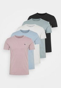 Abercrombie & Fitch - ICON CREW 5 PACK - Jednoduché triko - light blue - 8