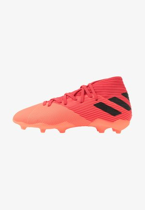 NEMEZIZ 19.3 FG - Moulded stud football boots - signal coral/core black/red