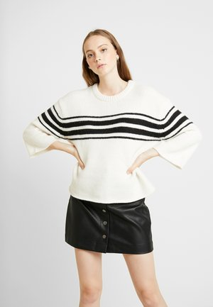 Pullover - whisper white/black