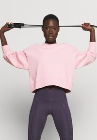 Nike Performance - DRY GET FIT CREW - Sweatshirt - pink glaze/light smoke grey - 3
