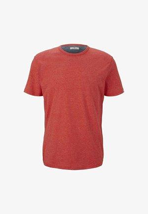T-shirt - bas - red mocktwist melange