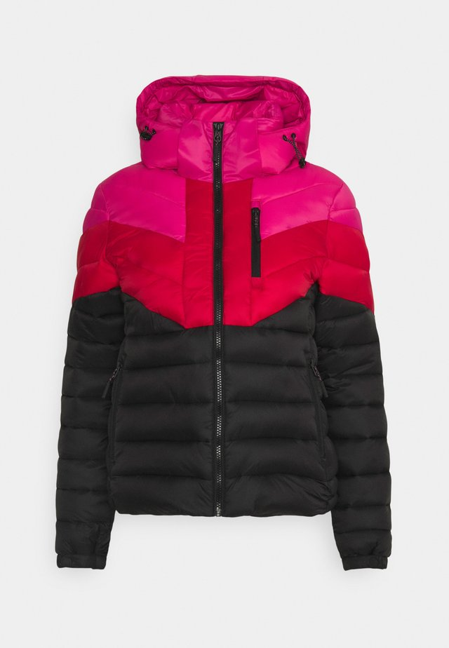 COLOUR BLOCK FUJI - Zimní bunda - pink/black