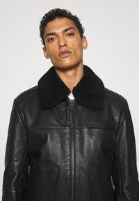 HUGO - LYAN - Leather jacket - black - 6