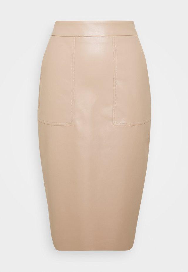 CARGO SKIRT - Falda de tubo - nougat