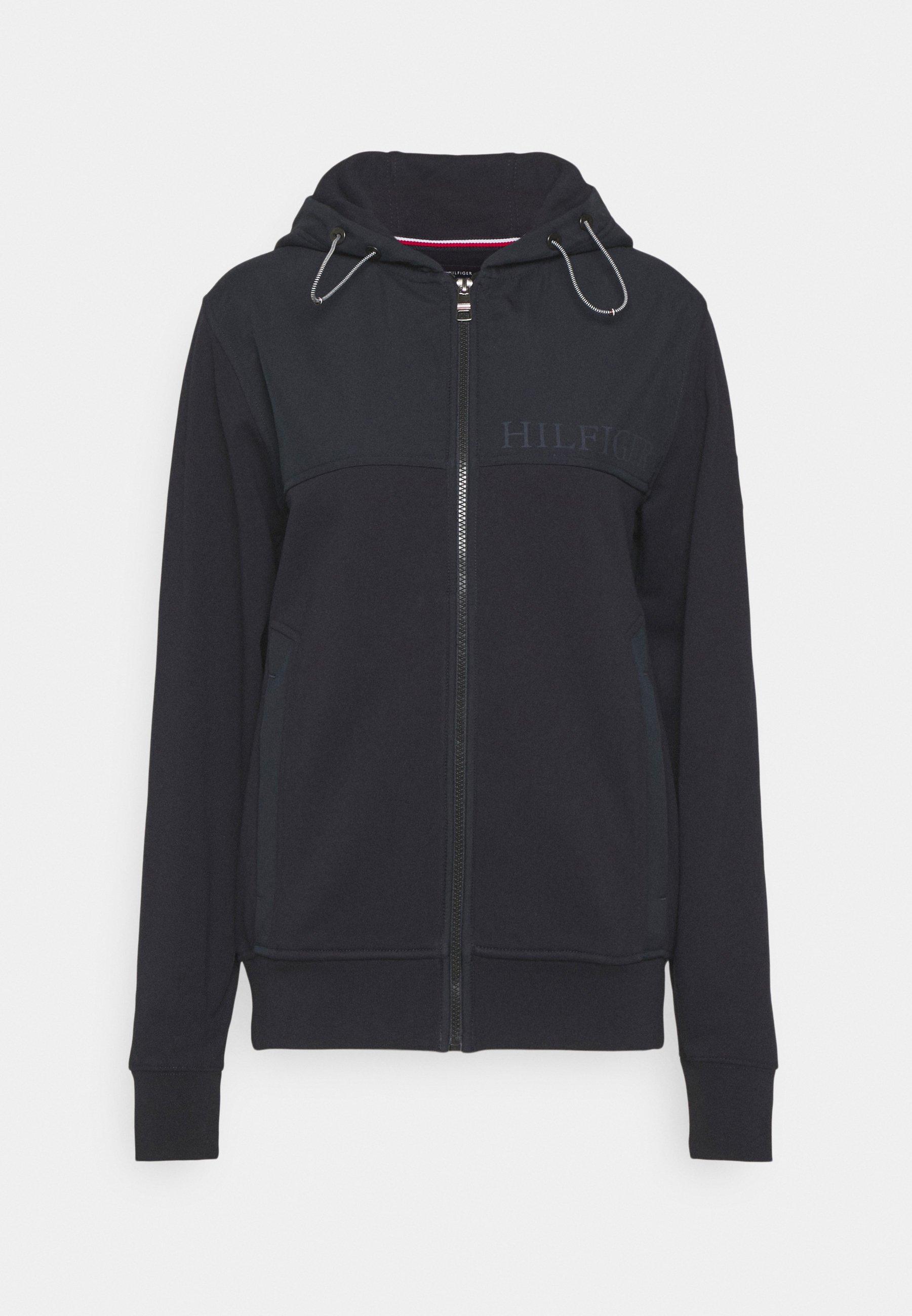 Men MIX MEDIA MOCK NECK - Zip-up sweatshirt