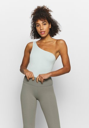 ONE SHOULDER SEAMLESS BODYSUIT - Gym suit - green