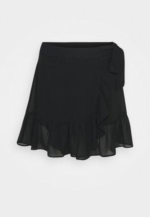 FRILL SKIRT - Mini skirt - black