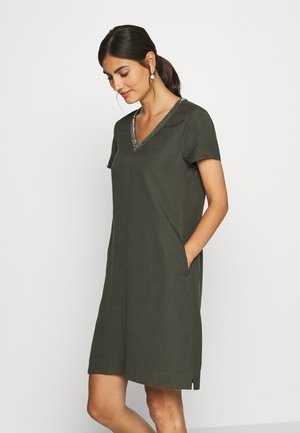Day dress - dark khaki green
