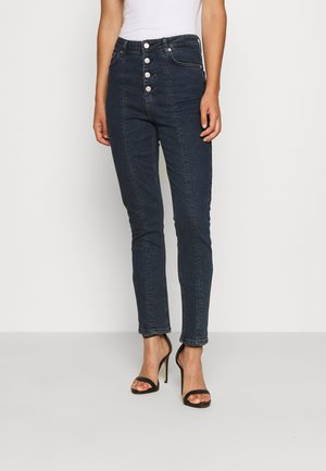 FRONT SEAM HIGH WAIST  - Jeans Skinny Fit - dark denim
