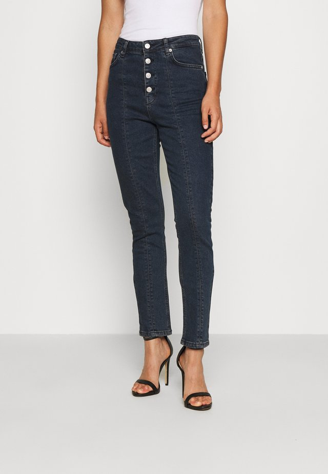 FRONT SEAM HIGH WAIST  - Skinny džíny - dark denim