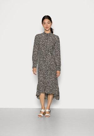 CELINA MOROCCO MIDI DRESS - Shirt dress - black leaf