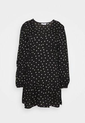 SPUN HEART PRINT - Day dress - black