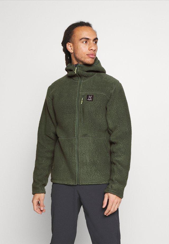 HOOD MEN - Fleece jacket - fjell green