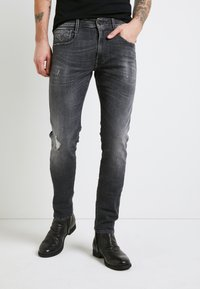 Replay - ANBASS AGED - Slim fit jeans - medium grey - 0