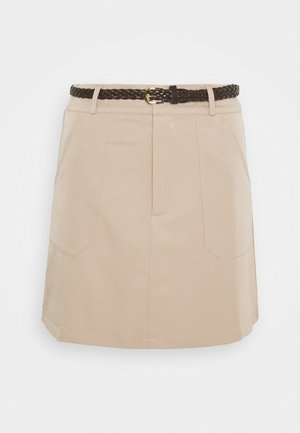 SAVANAH SKIRT - Mini skirt - beige