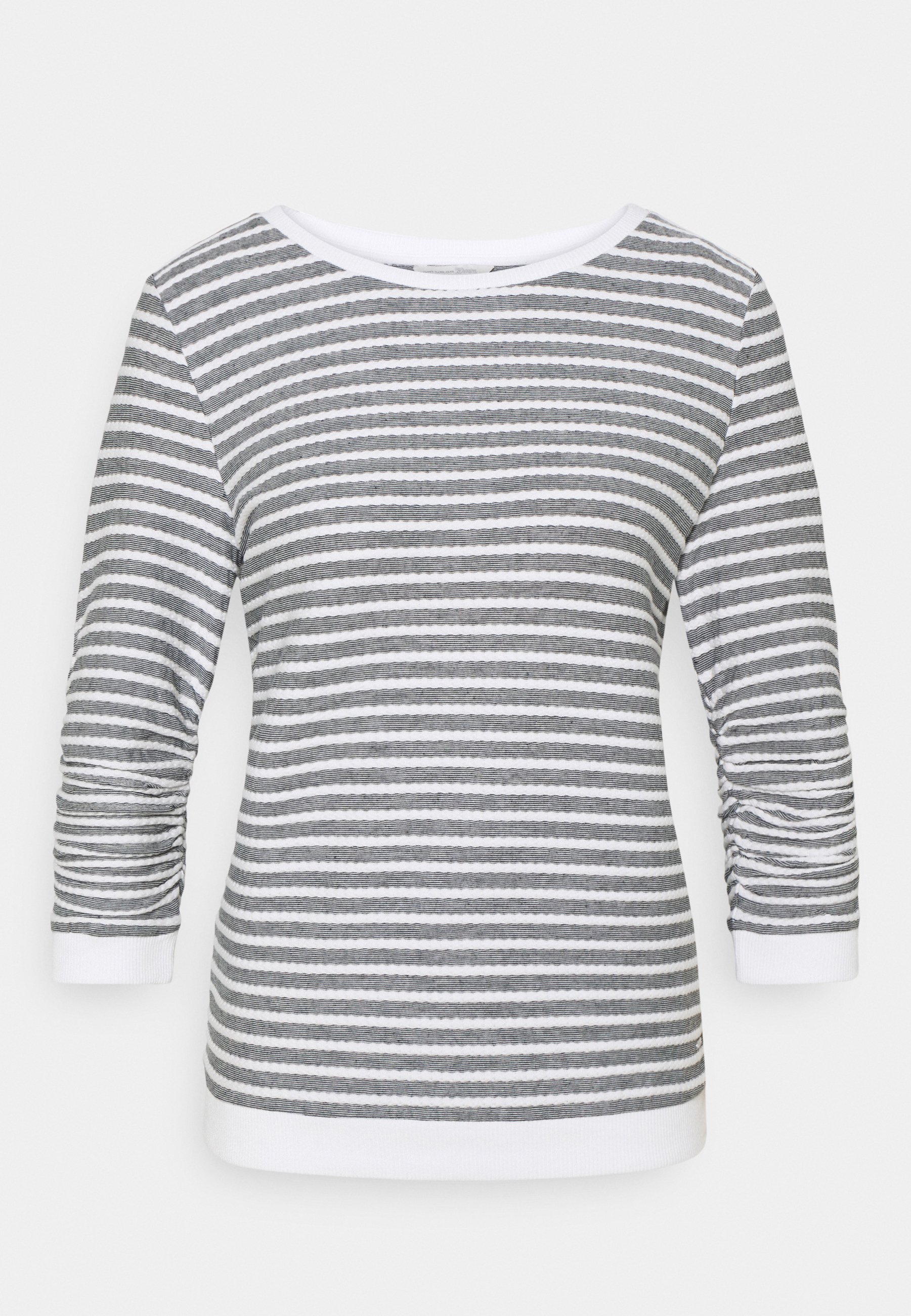 Women STRIPED JACQUARD - Long sleeved top - blue white