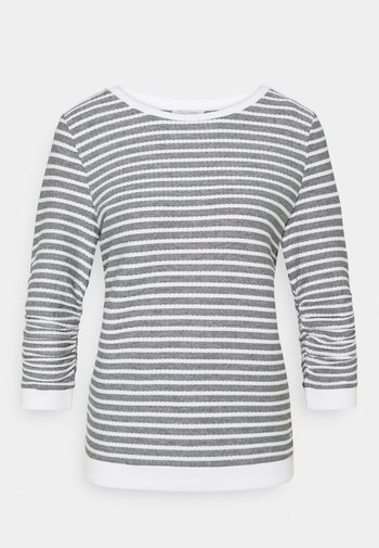 STRIPED JACQUARD - Long sleeved top - blue white
