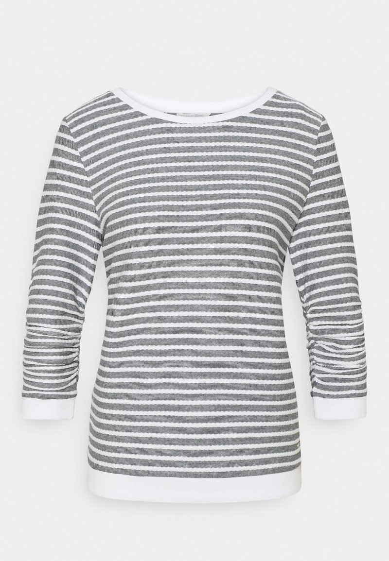 TOM TAILOR DENIM - STRIPED - Sweatshirt - blue white